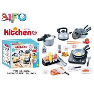 Bộ đồ chơi nấu ăn 36 món có bếp, thiết kế y như thật