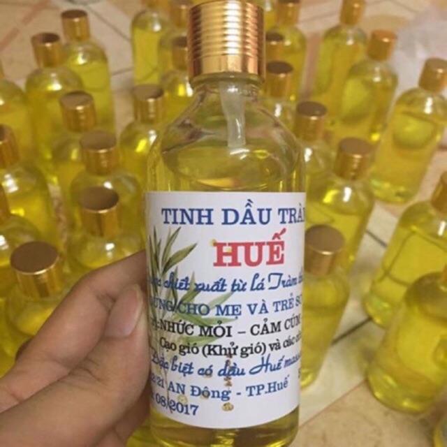 Tinh dầu tràm Huế nguyên chất lọ tròn 100 ml / ̀50 ml