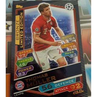 Muller Bronze Limited Edition Topps match attax 2017 ( thẻ cầu thủ )