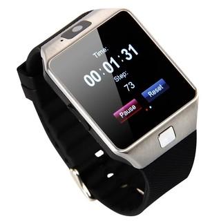 Đồng hồ thông minh Smart Watch DZ09 Đen phối bạc thumbnail