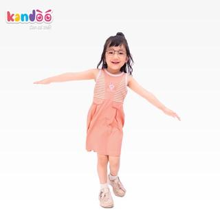 Váy sát nách bé gái KANDOO màu cam, chất liệu cotton cao cấp mềm mịn, thoáng mát, an toàn cho da bé - DG16DR03