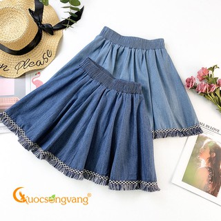 [Thanh Lý Xả Kho] Chân váy denim chân váy ngắn lưng thun GLV145 .. Đẹp