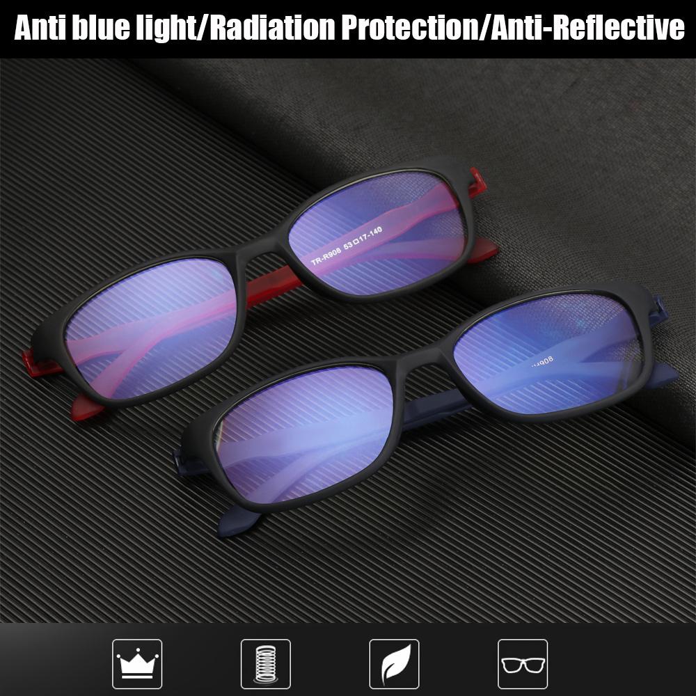 BEAUTY Fashion Anti-Blue Light Eyeglasses Comfortable Eye Protection Reading Glasses Portable Antifatigue Women Men Vintage Ultra Light Frame/Multicolor