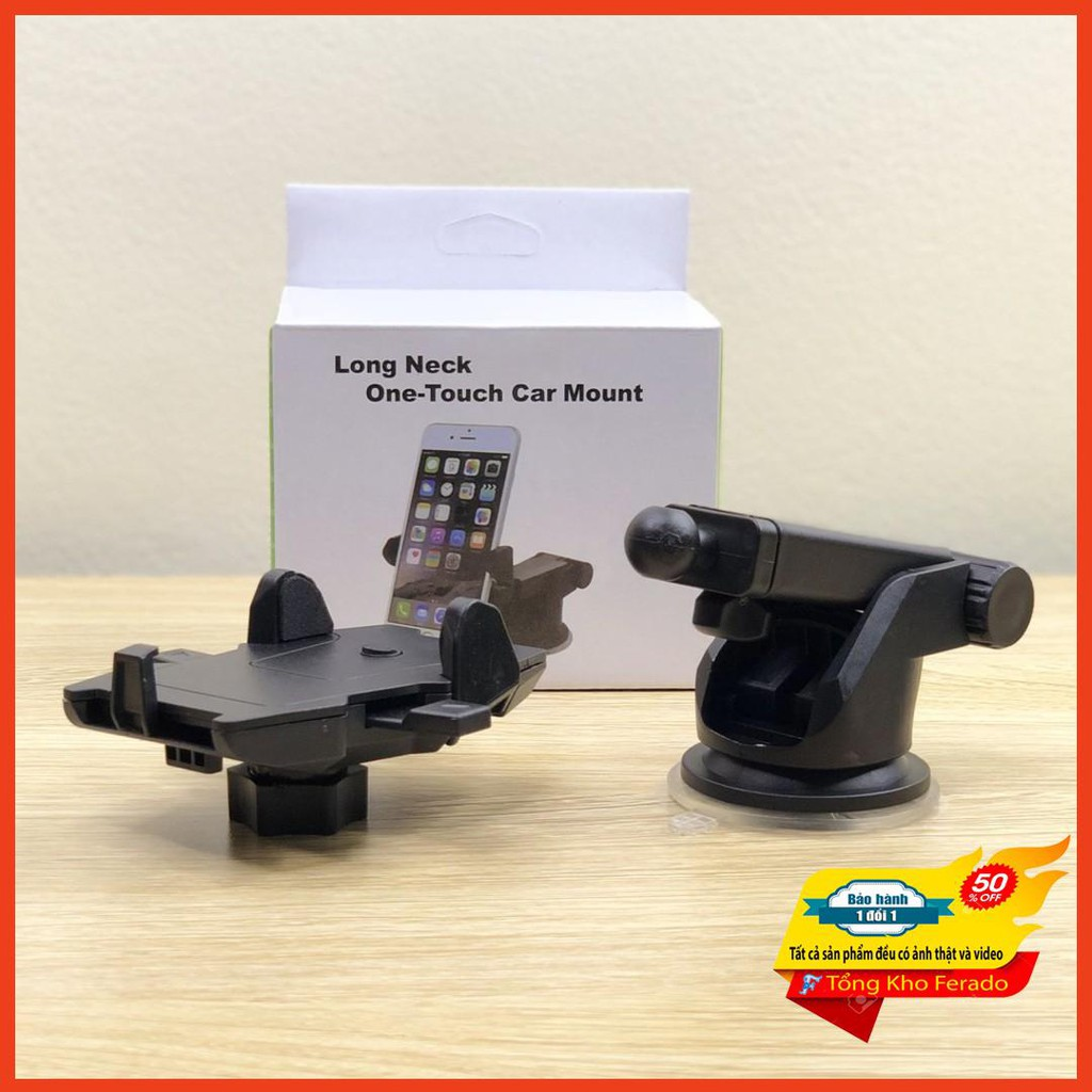 [ Siêu rẻ ] Giá đỡ điện thoại trên xe hơi Long Neck One-Touch