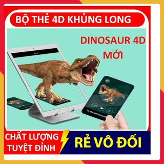 Bộ thẻ 4d, thẻ học thông minh khủng long DINOSAUR AR KỈ JURASIC cho bé yêu khám phá – SHOP CU BIN