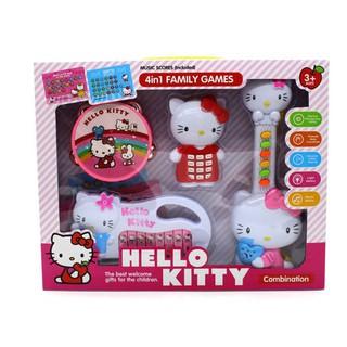 Bộ đồ chơi đàn Hello kitty 4 món cho bé