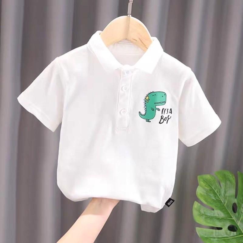 áo thun có cổ thiết kế bé trai