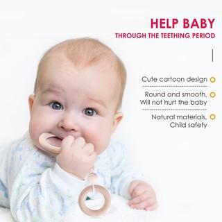 ★Lp★Wood Ring Baby Bracelet Rattle Baby Teether Bangles Toddler Teething Rattle