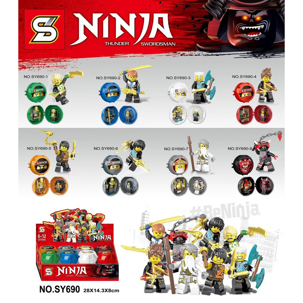 Minifigures Ninja - Các Mẫu Lắp Ráp nhân vật trong Ninja