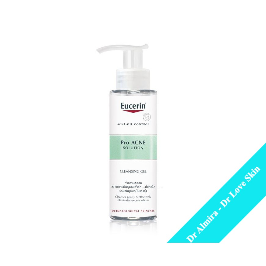 Gel rửa mặt cho da dầu mụn EUCERIN  ProAcne Solution cleansing gel 200ml