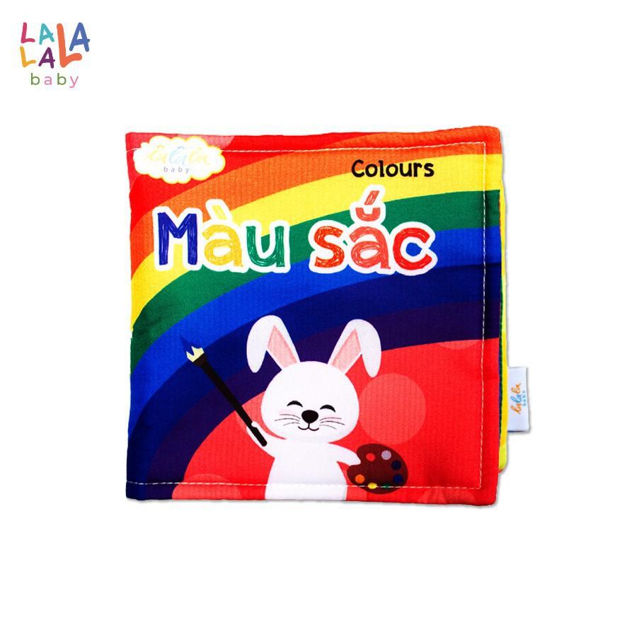 Sách vải Lalala baby, kích thích đa giác quan chủ đề Màu sắc, kích thước 15x15cm 12 trang