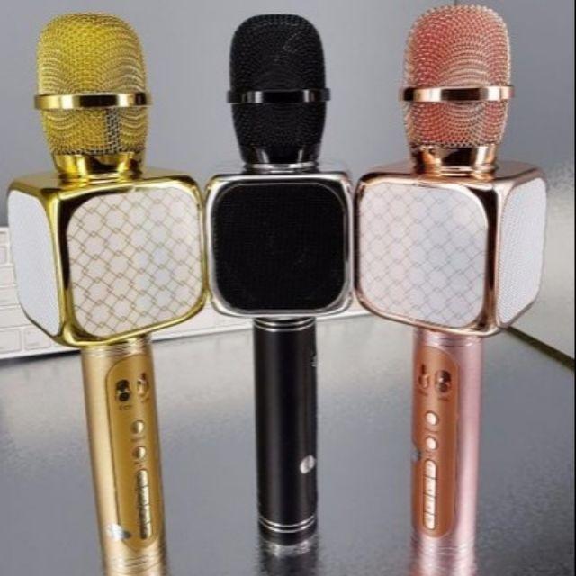 Mic hát Karaoke Bluetooth YS 69 chỉnh được giọng hát