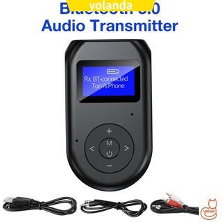 Thiết Bị Thu Phát Âm Thanh Bluetooth 5.0 2 Trong 1 Có Màn Hình Lcd 3.5mm
