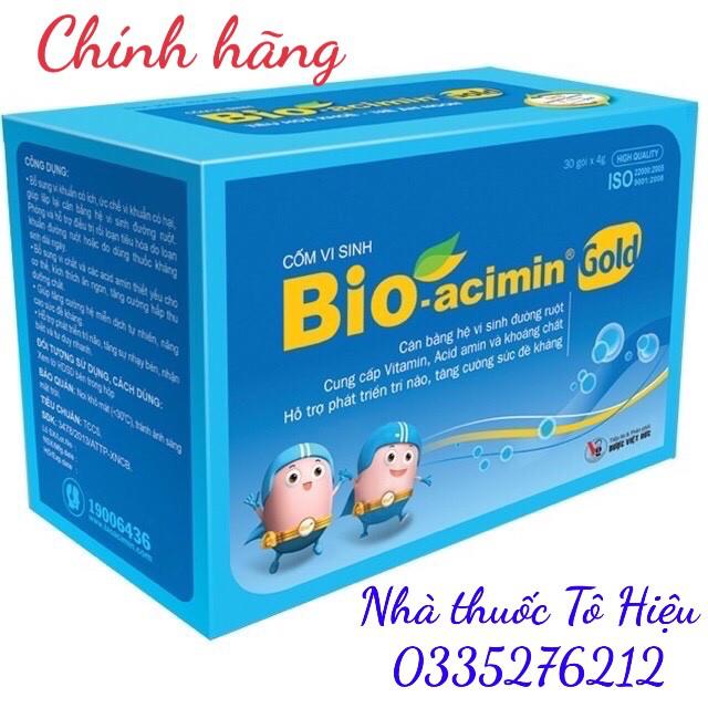 [Mã COSHOT27 giảm 10% đơn 300K] Bio-Acimin Gold+ - Cốm vi sinh giúp tiêu hoá khoẻ, trẻ ăn ngon