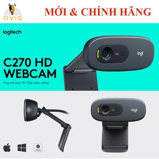 [BH 24 THÁNG] Webcam Máy Tính Logitech C270 Video Trực Tuyến 720P, Tích Hợp Chống Ồn