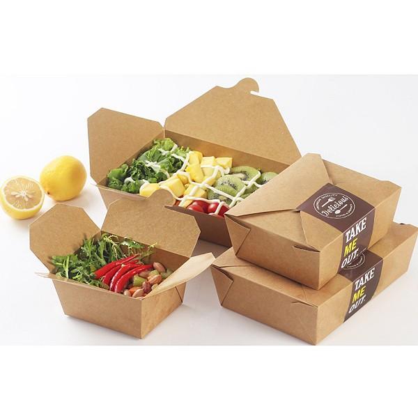 Combo 50 hộp giấy đựng thức ăn nhanh, đồ ăn nóng (hộp đựng thức ăn 1 lần) |  Shopee Việt Nam
