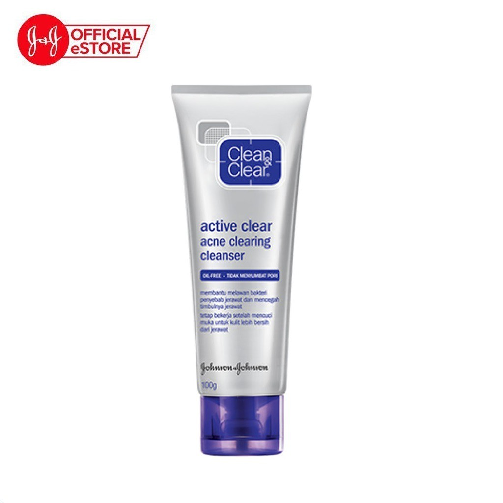 [Mã COSJJ24 giảm 20K đơn 199K] Sữa rửa mặt Clean & Clear trị mụn acne clearing 100g - 100809615