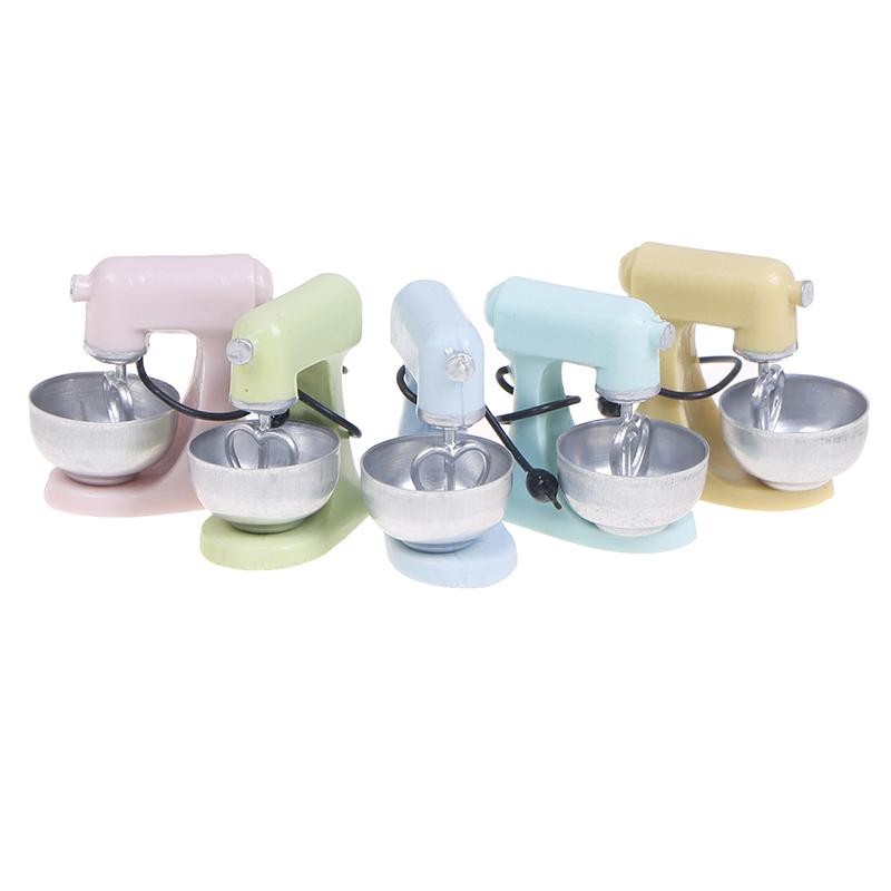 1:12 Dollhouse Miniature Kitchen Modern Mixer Model Furniture Accessories Toys