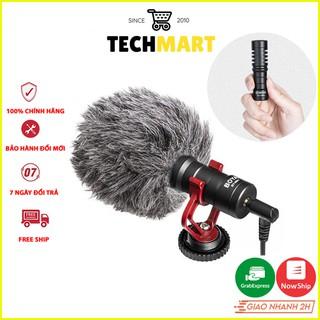 Mic thu âm chuyên nghiệp BOYA BY-MM1 cho máy ảnh, quay phim và điện thoại.