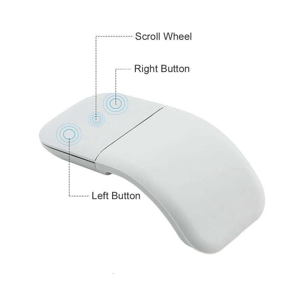 Chuột máy tính Chyi Laser Bluetooth 4.0 không dây có thể gập siêu mỏng cao cấp