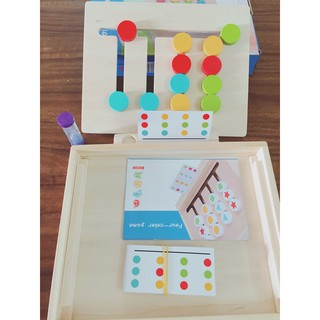 Montessori toán học tư duy học hình khối 2in1