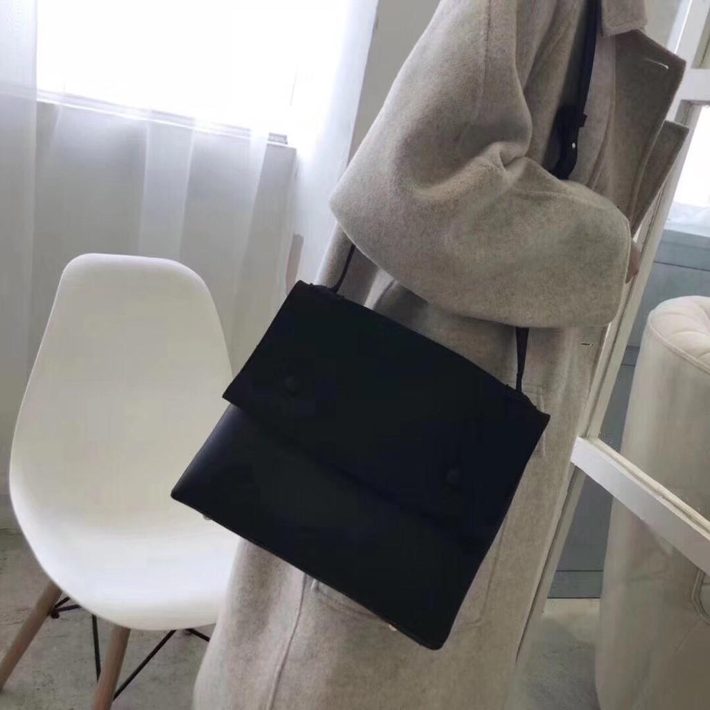 Túi xách nữ [THANH LÝ] Túi da lộn 3 màu, nắp 2 khuy N2a shop