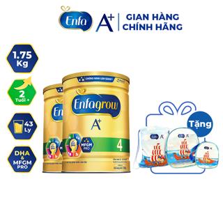 [Mã FMCGFEB21 giảm 8% đơn 250K] [Tặng bộ 3 túi] Combo 2 lon Sữa bột Enfa A+ 4 1750g thumbnail