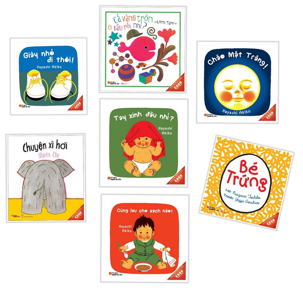 Sách Truyện Tranh Ehon Nhật Bản - Bộ 7 Cuốn dành cho bé (0-3 Tuổi)