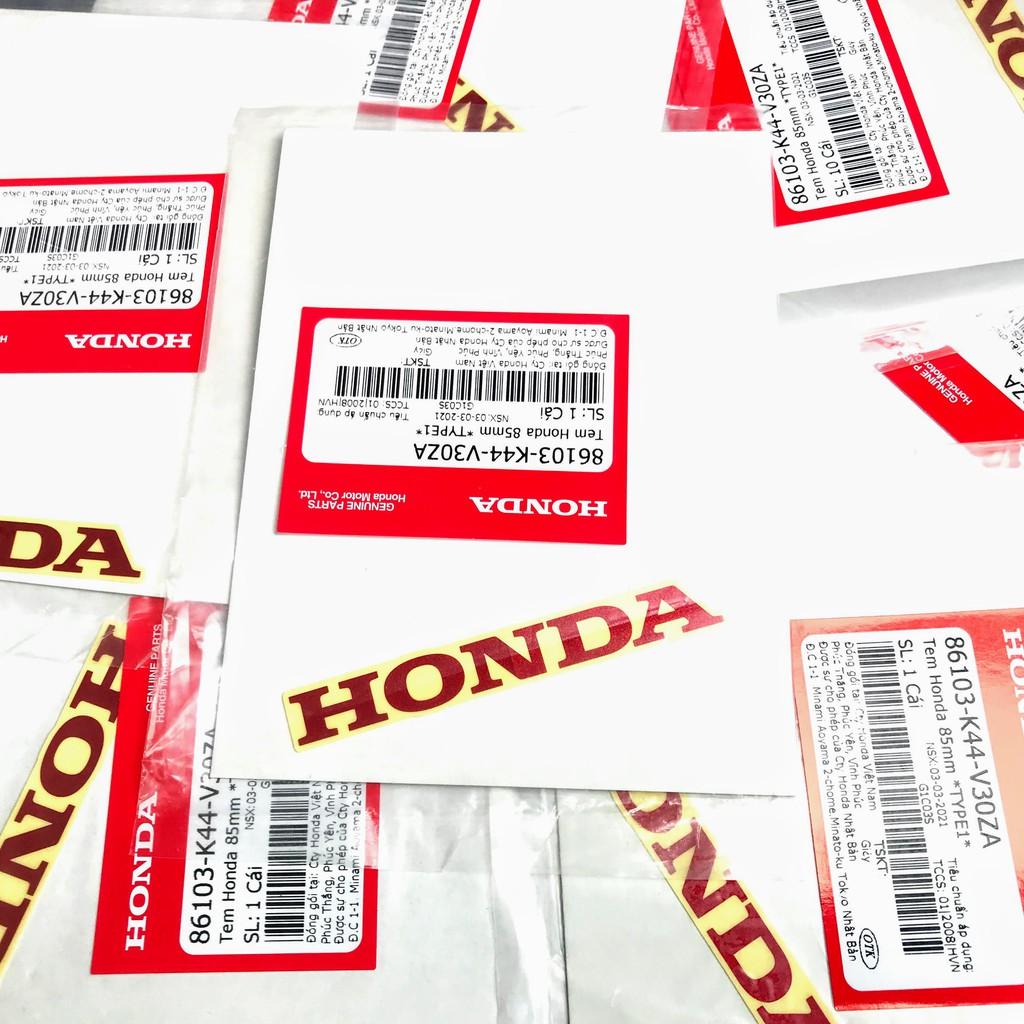 Tem chữ Honda 85mm