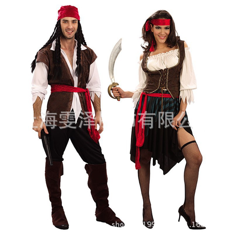 Pirates Of The Caribbean Cosplay Captain Costumes For Adult
