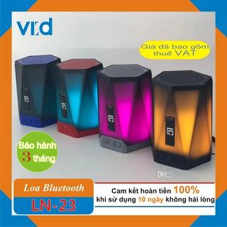 [Mã ELFLASH5 giảm 20K đơn 50K] Loa Bluetooth Mini LN-23 - Đèn Led đổi màu - Bảo hành chính hãng 3 tháng