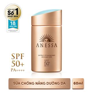Hình ảnh Bộ đôi chống nắng bảo vệ hoàn hảo Anessa Perfect UV Sunscreen Skincare Milk (60ml + 20ml)_95563E-2