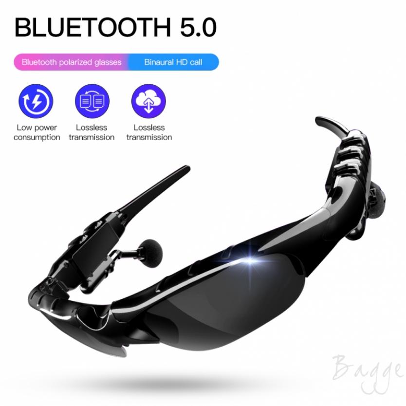 Bagge Bluetooth 5.0 PolarizedSun Glasses Headset Wireless Voice Stereo Listening