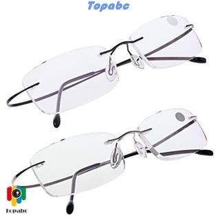 📞TOP💻 Degree Reading Glasses Elder Memory Titanium Eyeglass Ultralight Health Care Rectangular Spectacles Unisex Rimless/Multicolor