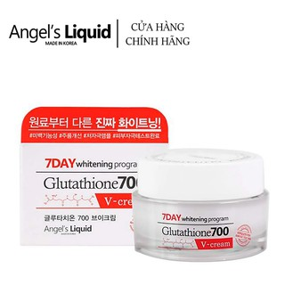 Kem dưỡng trắng Angel s Liquid 7day Whitening Program Glutathione 700 V-Cream 50ml thumbnail