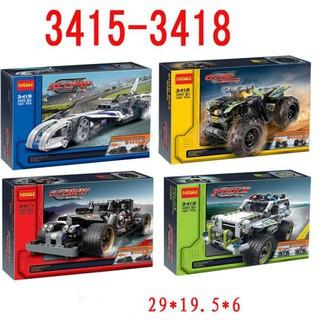 Mô hình xe đua xe thể thao Decool 3415-3418 đồ chơi lắp ráp