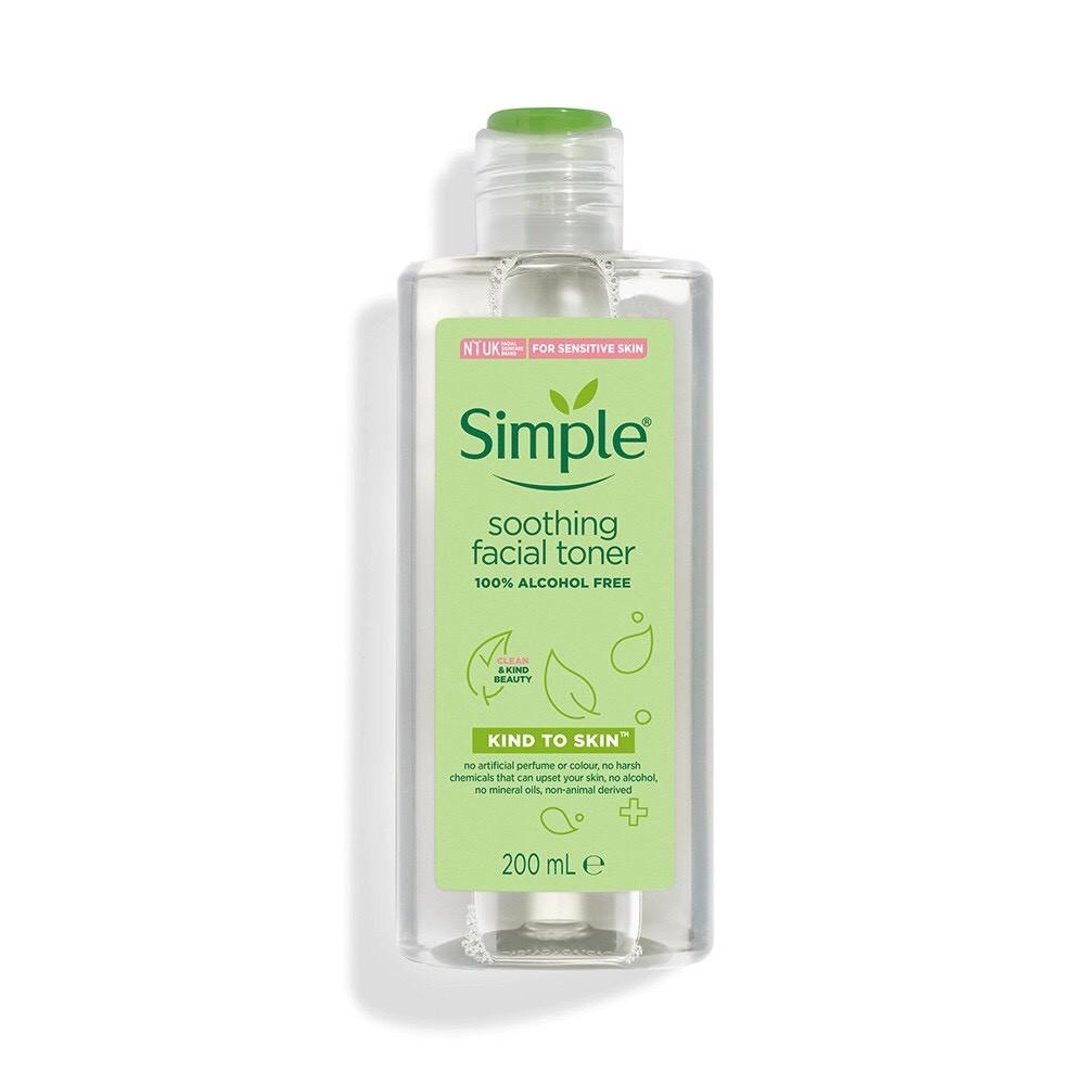 Nước hoa hồng Simple Toner 200ml mẫu mới.