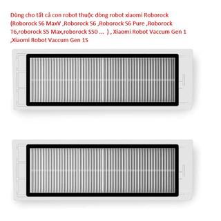 Tấm lọc bụi HEPA cho dòng robot xiaomi Roborock(roborock S6,roborock S50,roborock S5 Max ,Xiaowa )- Một cặp (Cao Cấp ) thumbnail