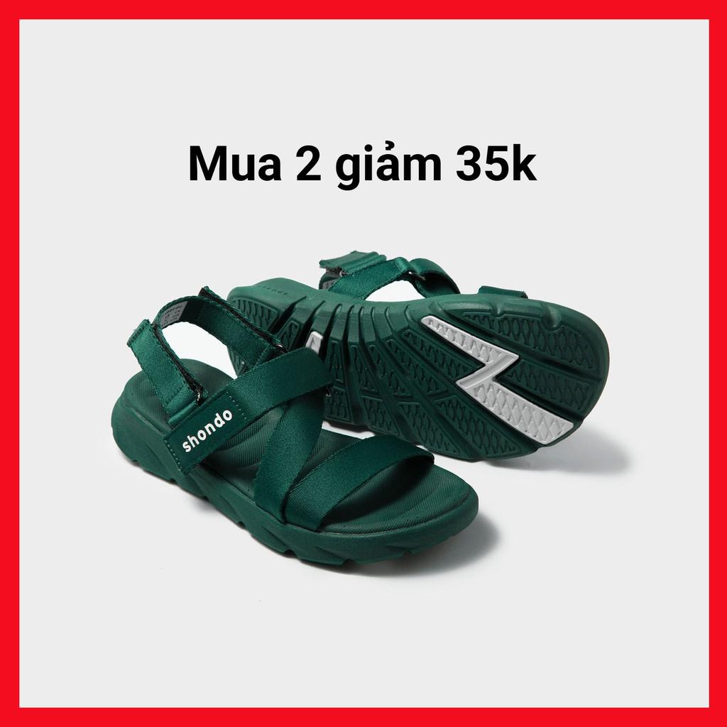 Giày Sandals SHONDO F6 Sport – F6S002-Màu Xanh Lá