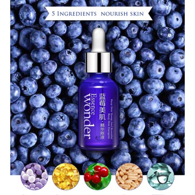 Serum săn da cấp nước BIOAQUA WONDER ESSENCE: BLUEBERRY EXTRACT