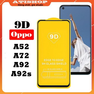 Cường lực Oppo A52/ A72/ A92/ A92s-Full màn hình và Trong suốt-Độ cứng 9H