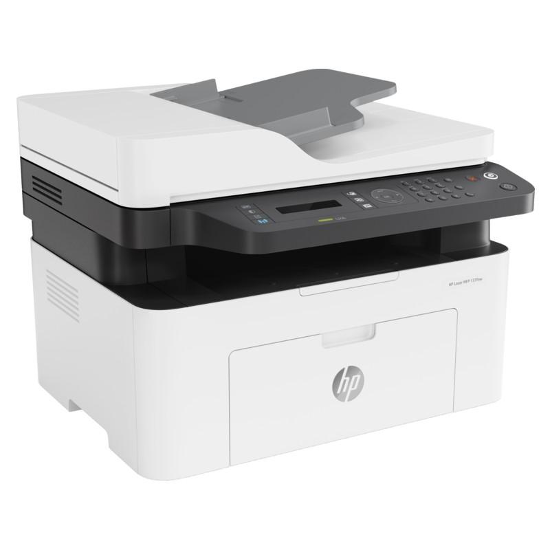 [Mã ELHPAPR giảm 5% đơn 100K] Máy in đa chức năng (In, copy, scan, fax) đen trắng HP LaserJet MFP 137fnw_4ZB84A