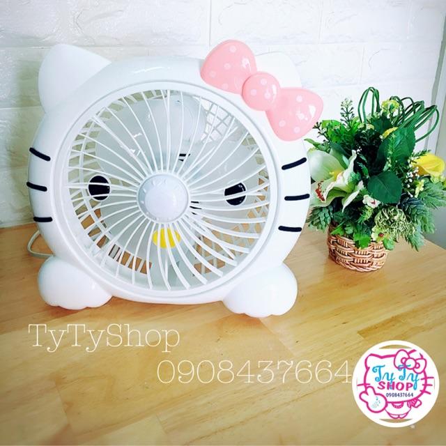 Quạt quay Mini Hello Kitty
