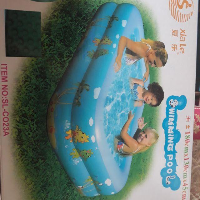 Phao bơi 2 tầng 1m8 x1m3x 45cm