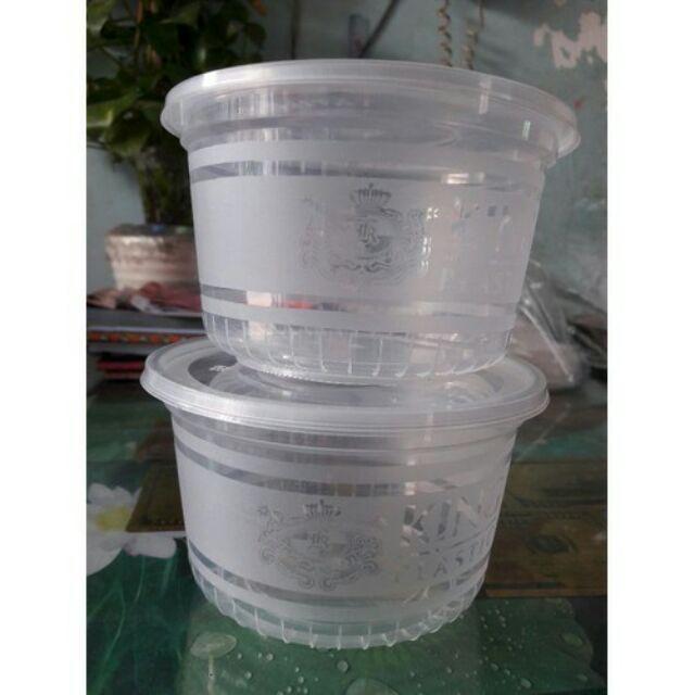 Hộp nhựa tròn 500 ml 1 cây 50 cái