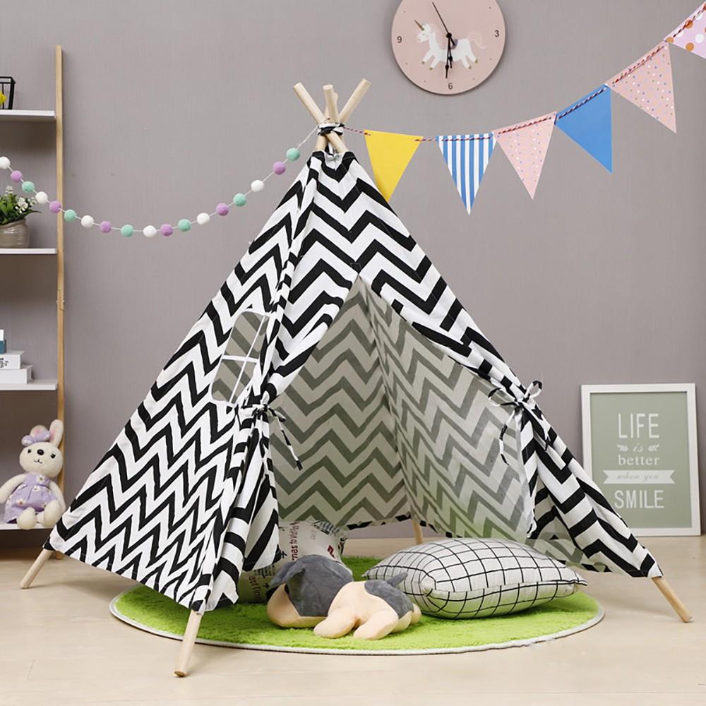 Lều vải cho bé, lều ngủ bằng vải tạo hình ngôi nhà xinh xắn cho bé