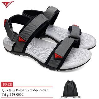 Giày Sandal Việt Thủy Hai Quai Ngang Nam Ghi Xám – VT01