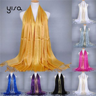 Yisa Tassel Smooth Autumn Long Cover Beach Shawl