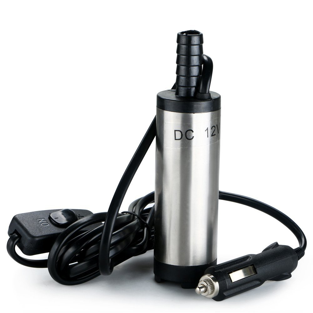 Máy bơm dầu hoặc nước mini 12V dùng cho xe hơi khi đi du lịch