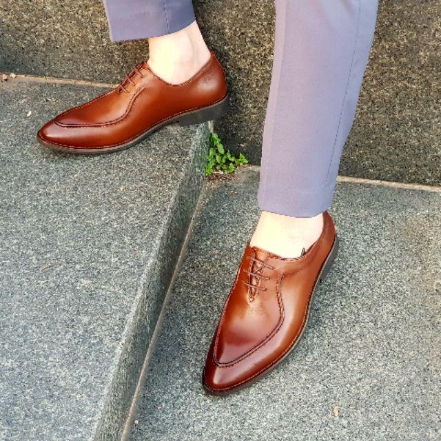 Giày tây nam da bò thật bảo hành 1 năm